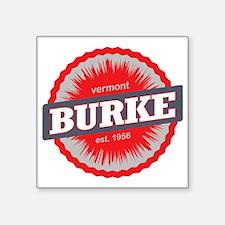 "Burke Mountain Ski Resort V Square Sticker 3"" x 3"""