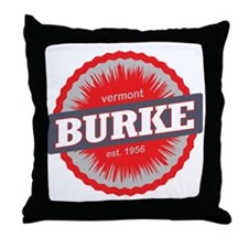 Burke Mountain Ski Resort Vermont Red Throw Pillow