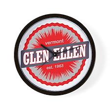 Glen Ellen Ski Resort Vermont Red Wall Clock