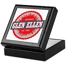 Glen Ellen Ski Resort Vermont Red Keepsake Box