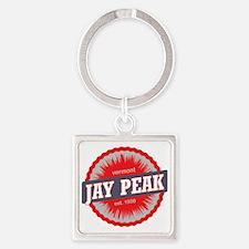 Jay Peak Ski Resort Vermont Red Square Keychain