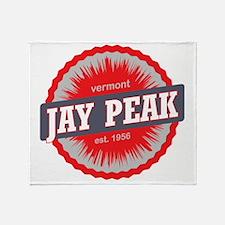 Jay Peak Ski Resort Vermont Red Throw Blanket