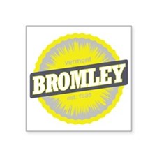 "Bromley Mountain Ski Resort Square Sticker 3"" x 3"""