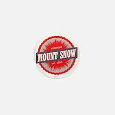 Mount Snow Ski Resort Vermont Red Mini Button