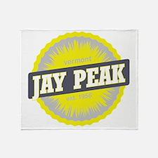 Jay Peak Ski Resort Vermont Yellow Throw Blanket