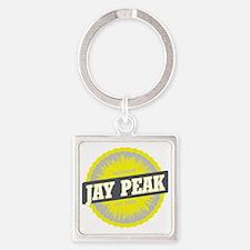 Jay Peak Ski Resort Vermont Yellow Square Keychain
