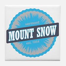 Mount Snow Ski Resort Vermont Sky Blu Tile Coaster