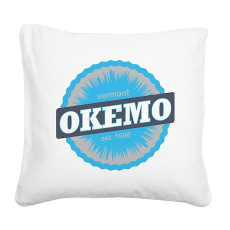 Okemo Mountain Ski Resort Ver Square Canvas Pillow