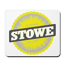 Stowe Mountain Ski Resort Vermont Yellow Mousepad