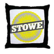 Stowe Mountain Ski Resort Vermont Yel Throw Pillow