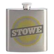 Stowe Mountain Ski Resort Vermont Yellow Flask