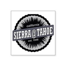 "Sierra-at-Tahoe Ski Resort  Square Sticker 3"" x 3"""