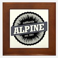 Alpine Meadows Ski Resort Ski Resort C Framed Tile