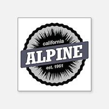 "Alpine Meadows Ski Resort S Square Sticker 3"" x 3"""