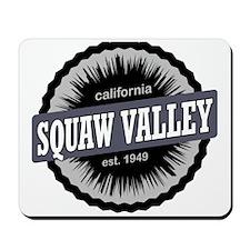 Squaw Valley Ski Resort California Black Mousepad