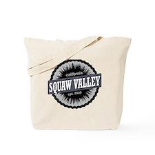 Squaw Valley Ski Resort California Black Tote Bag