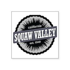 "Squaw Valley Ski Resort Cal Square Sticker 3"" x 3"""