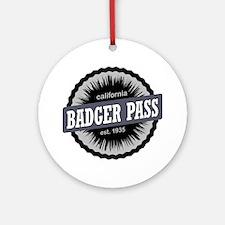 Badger Pass Ski Area Ski Resort Cal Round Ornament