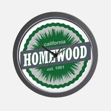 Homewood Mountain Resort Ski Resort Cal Wall Clock