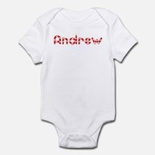 Andrew - Candy Cane Infant Bodysuit