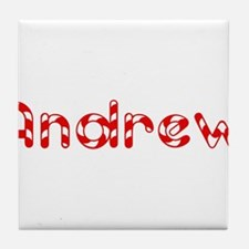 Andrew - Candy Cane Tile Coaster
