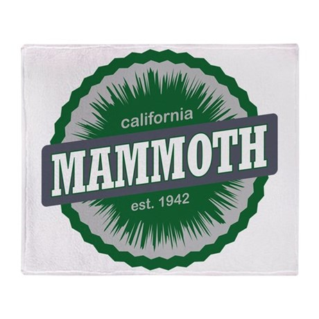 Mammoth Mountain Ski Resort Californ Throw Blanket