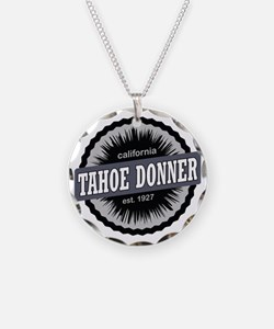 Tahoe Donner Downhill Ski Re Necklace