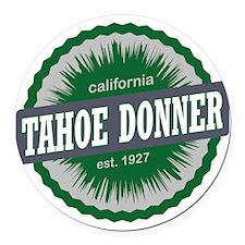 Tahoe Donner Downhill Ski Resort  Round Car Magnet