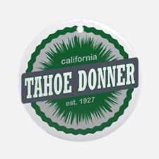 Tahoe Donner Downhill Ski Resort Ca Round Ornament