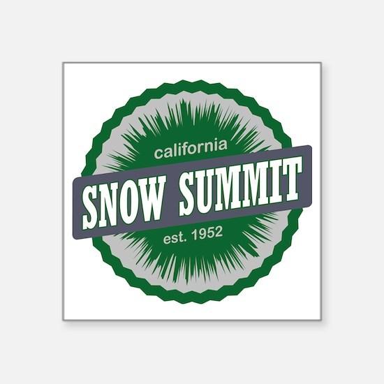 "Snow Summit Mountain Resort Square Sticker 3"" x 3"""
