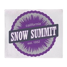 Snow Summit Ski Resort California Pu Throw Blanket
