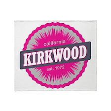 Kirkwood Mountain Ski Resort Califor Throw Blanket