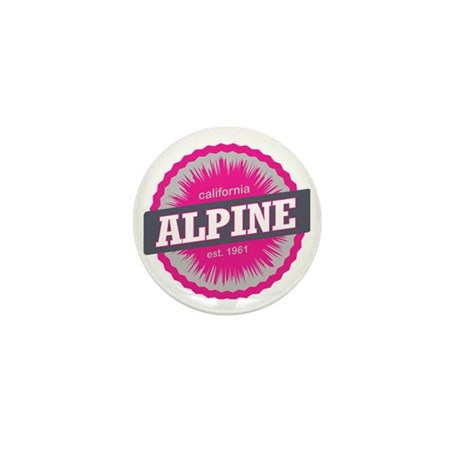 Alpine Meadows Ski Resort California P Mini Button