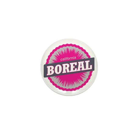 Boreal Mountain Ski Resort California Mini Button