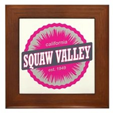Squaw Valley Ski Resort California Pin Framed Tile