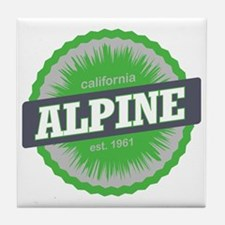 Alpine Meadows Ski Resort California  Tile Coaster