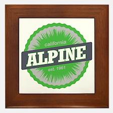 Alpine Meadows Ski Resort California L Framed Tile
