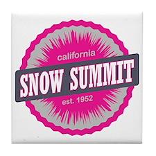 Snow Summit Ski Resort California Pin Tile Coaster