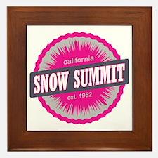 Snow Summit Ski Resort California Pink Framed Tile