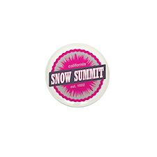 Snow Summit Ski Resort California Pink Mini Button