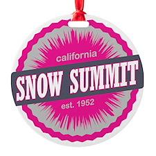 Snow Summit Ski Resort California P Ornament