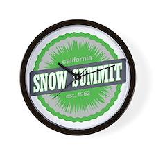 Snow Summit Ski Resort California Lime  Wall Clock