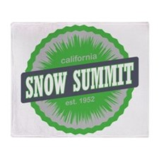 Snow Summit Ski Resort California Li Throw Blanket
