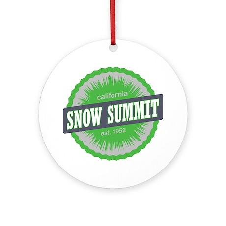 Snow Summit Ski Resort California L Round Ornament