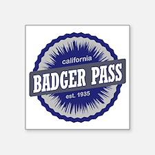 "Badger Pass Ski Resort Cali Square Sticker 3"" x 3"""