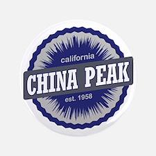 """China Peak Ski Resort California Navy  3.5"""" Button"""