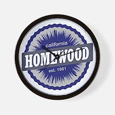 Homewood Mountain Ski Resort California Wall Clock