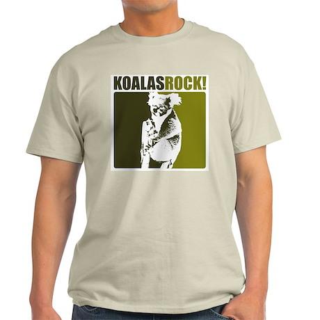 Koalas Rock! Ash Grey T-Shirt