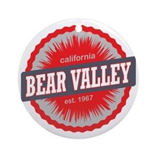 Bear Valley Mountain Ski Resort Cal Round Ornament