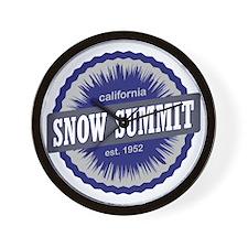 Snow Summit Ski Resort California Navy  Wall Clock
